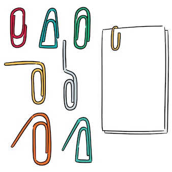 Set of paper clip