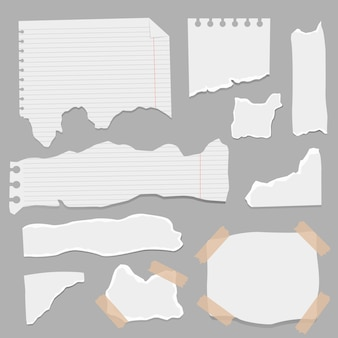 Set of paper different shapes scraps