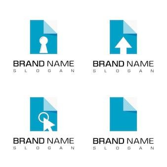 Set of paper document logo