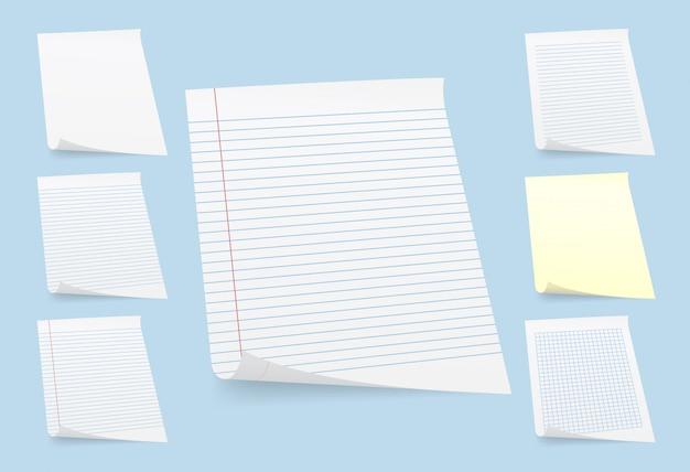 Set of paper sheets