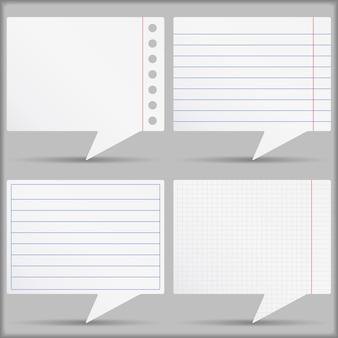 Set of paper speech bubbles, illustration