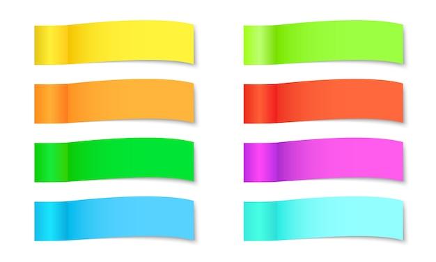 Set of paper stickers - illustration.
