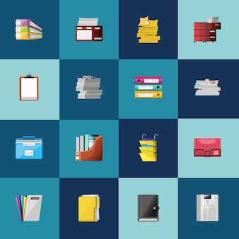 Set of paperwork