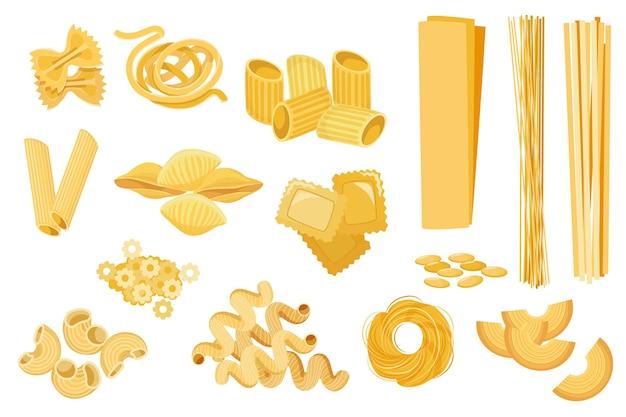 パスタの種類をステラ、フィリーニ、ファルファッレ、クアドレッティに設定します。 nidi di roundine tagltatelle、cornetti rigatiまたはpenne、カネロニ