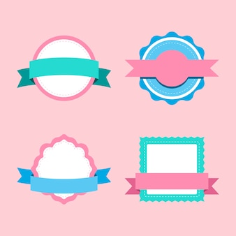 Set of pastel badge design