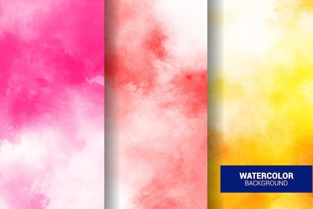 Set of pastel watercolor background. grunge texture. digital art painting
