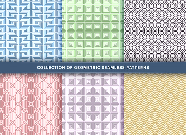 Set of pattern seamless with different concept.