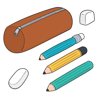 Set of pencil case