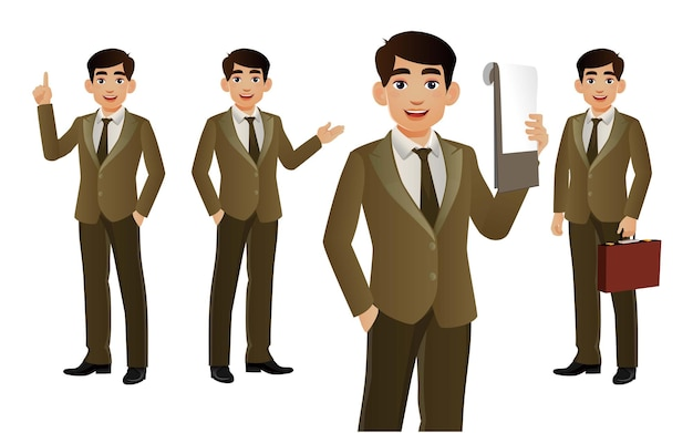 Set of people characters for business