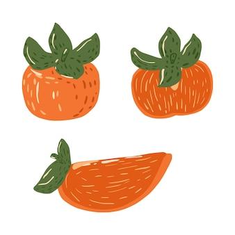 白に分離された柿を設定します