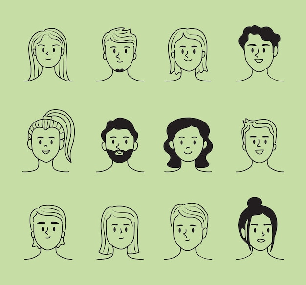 Set of persons doddle