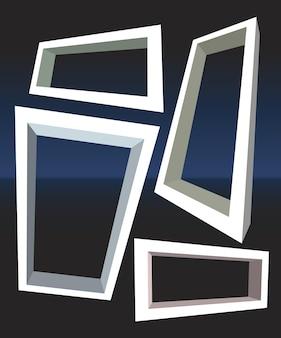 Set of perspective frames