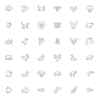 Set of pet and animal icons