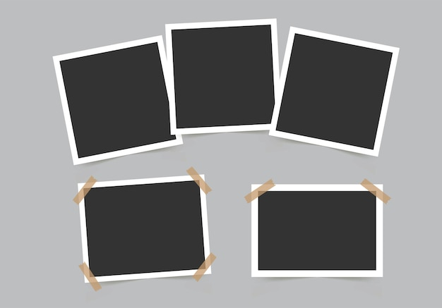 Set of photo frames template for your photos