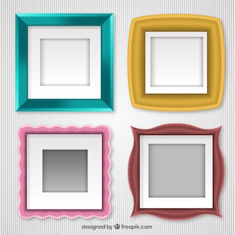 Set of photo frames with different designs