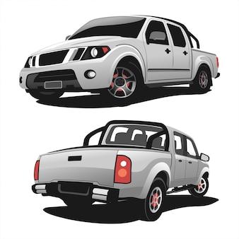 Set of pick up truck vector design illustration