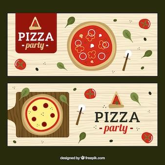 Set di pizza bandiere di partito