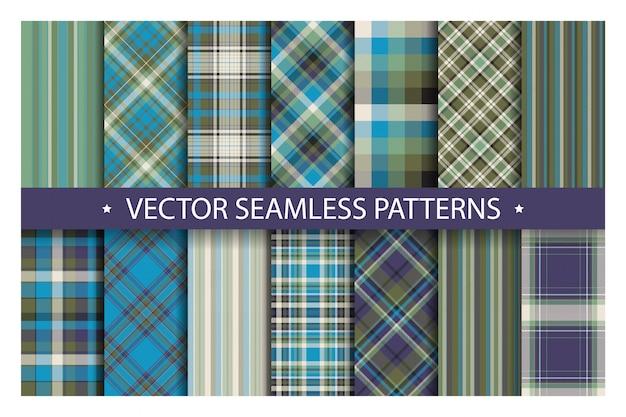격자 무늬 패턴을 원활 하 게 설정합니다. 타탄 패턴 패브릭 질감입니다. 체크 무늬가 기하학적 배경. 스코틀랜드 스트라이프 담요 배경