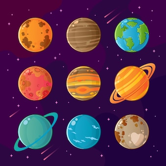 Set of planets in the solar system