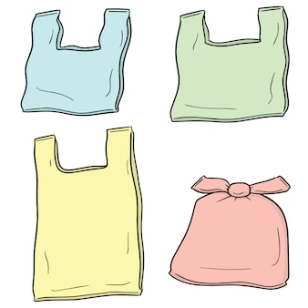 Set of plastic bag