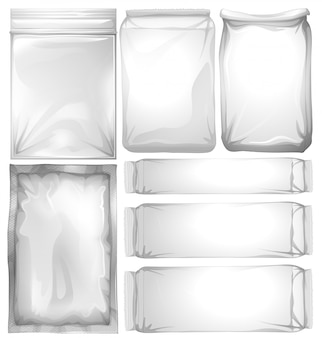 Set of plastic packages