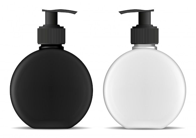 Set of plastic pump bottle