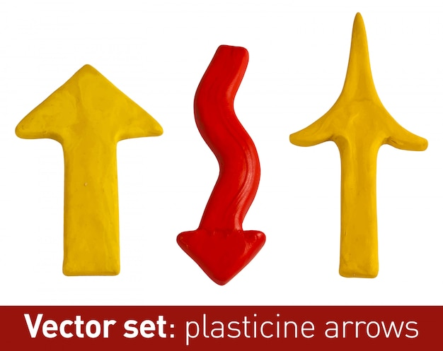 Set of plasticine arrows for your .