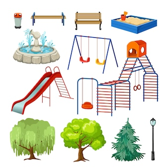 Set of playground elements.