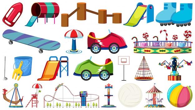 Set of playground equipment