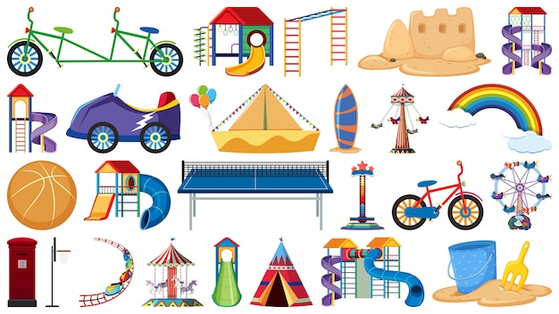 Set of playground tools
