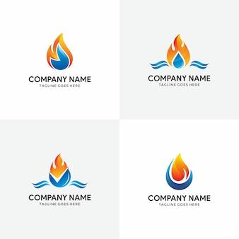 Set of plumbing logo design