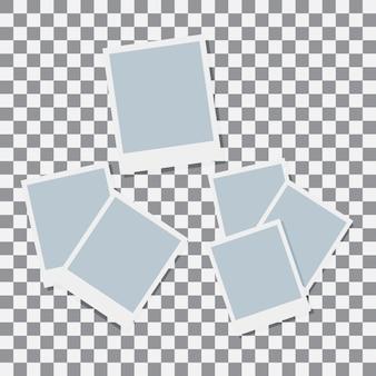 Set polaroid paper vector