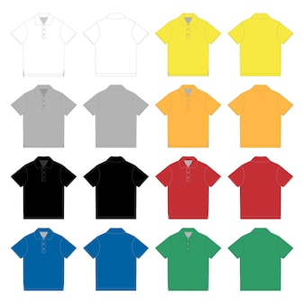 Set of polo t-shirt.