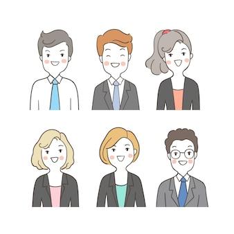 Установить портрет людей бизнес другое лицо