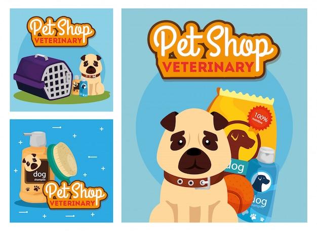 ペットショップ獣医のアイコンとポスターを設定します。