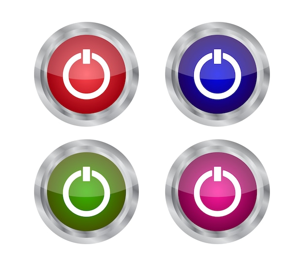 Set of power buttons