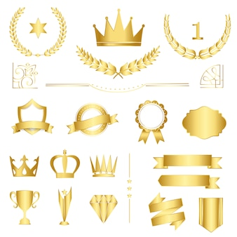 Set of premium badges and banners vector