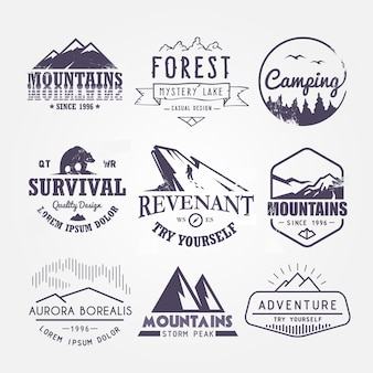 Set of premium labels on the themes of wildlife