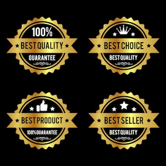 Set of premium quality golden labels premium