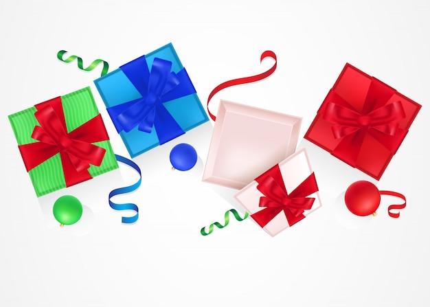 Set of present boxes illustration