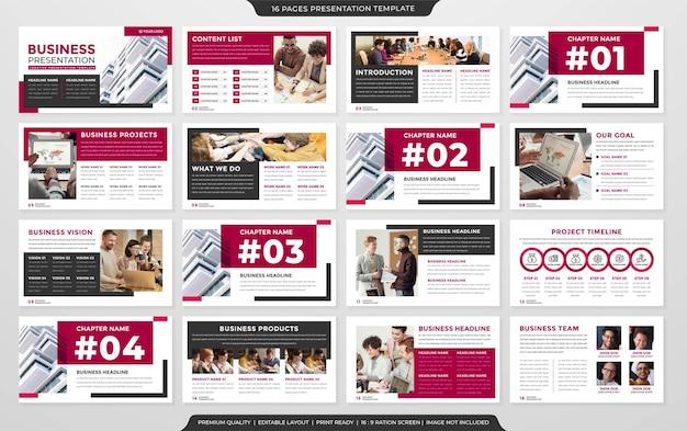 Set of presentation layout concept template premium vector