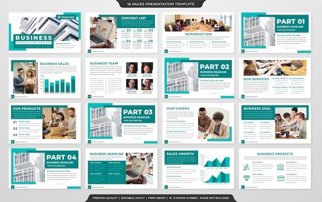 Set of presentation layout template premium style