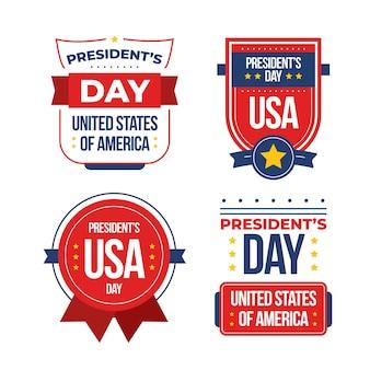 Set di etichetta del giorno del presidente