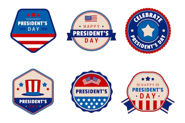 Set of president's day labels