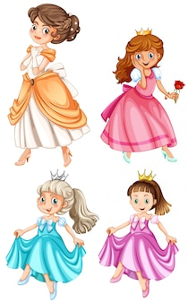 Set of pretty princesses