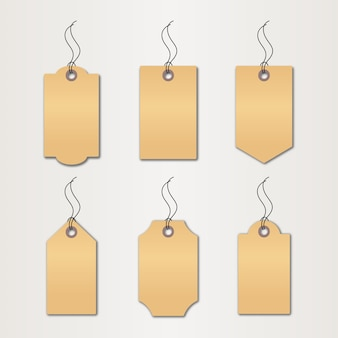 Set of price tag and discount logo design template