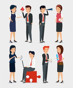 Set di uomini d'affari professionali
