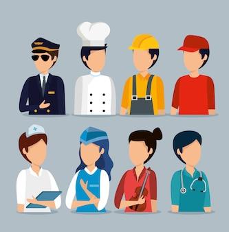 Установите профессиональных работодателей на празднование дня труда
