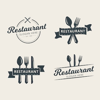 Set of professional restaurant logo template