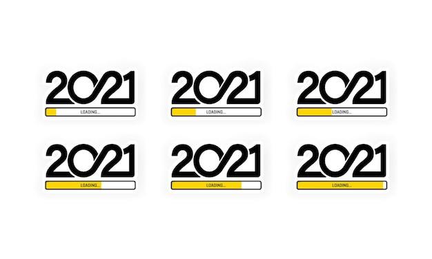 Set progress bar showing loading of 2021